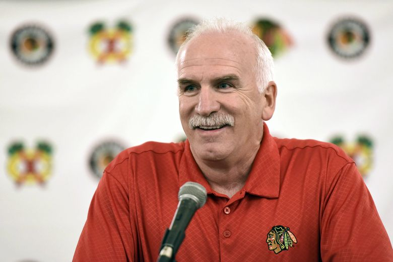 Former Chicago Blackhawks head coach Joel Quenneville, who was fired last Tuesday. (G-Jun Yam / The Associated Press)