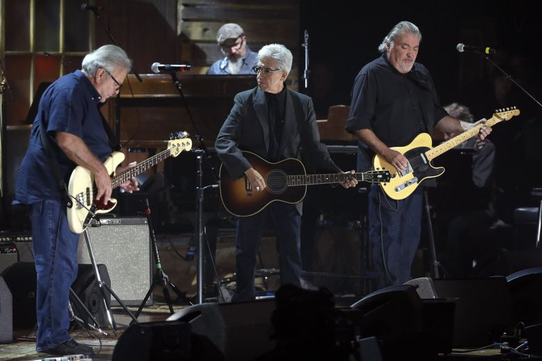 Los Lobos at the Americana Music Honors and Awards show in Nashville, Tennessee, in September 2015. The band performs at The Triple Door three nights, Jan. 4-6, 2019. (Mark Zaleski / The Associated Press, file)