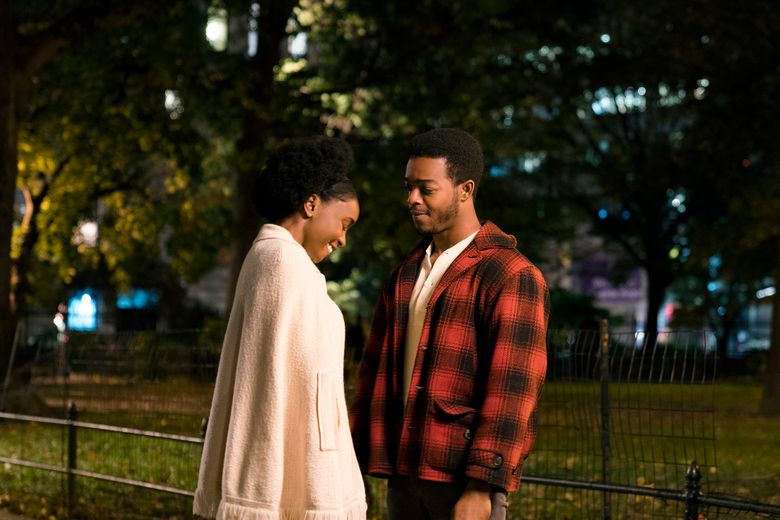 """KiKi Layne and Stephan James play lovers in """"If Beale Street Could Talk."""" (Tatum Mangus / Annapurna Pictures)"""