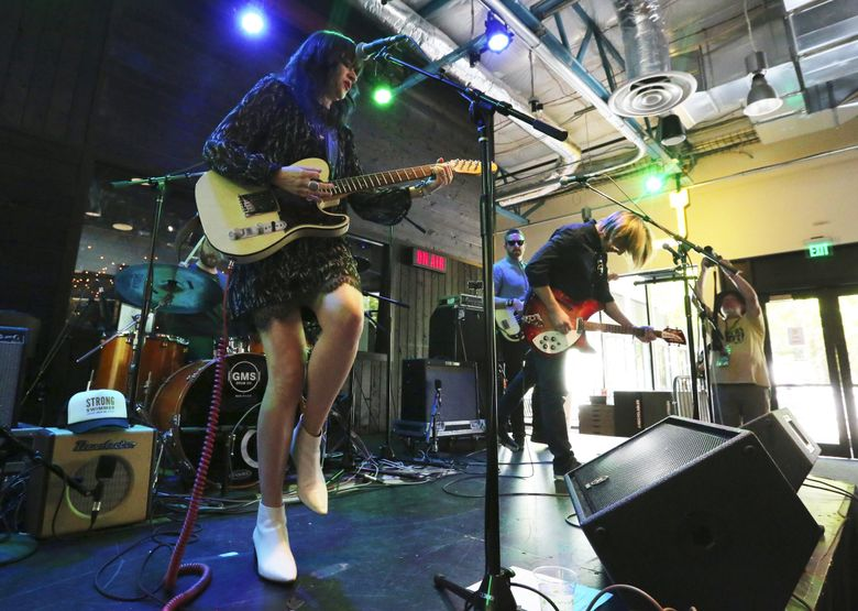 Shelby Earl, performing at Bumbershoot in 2017, comes to the Triple Door on Friday, Jan. 11. (Alan Berner / The Seattle Times)