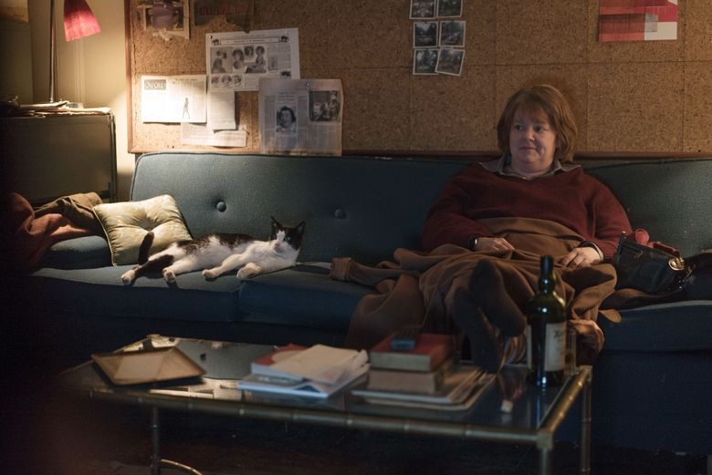 """In """"Can You Ever Forgive Me,"""" Towne the cat more than held his own opposite Melissa McCarthy.  (Mary Cybulski/20th Century Fox via The New York Times)"""