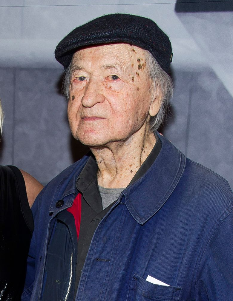FILE – In this Nov. 19, 2014 file photo, Lithuanian-born director Jonas Mekas attend the Whitney Museum Gala in New York. Mekas, 96, who survived a Nazi labor camp and years as a refugee, died Wednesday, Jan. 23, 2019, at his home, according to the Anthology of Film Archives. He was artistic director of the New York center for film preservation, a leading avant-garde movie theater.  (Photo by Charles Sykes/Invision/AP, File)