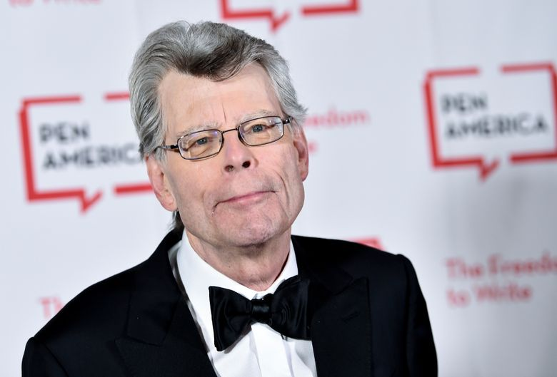 FILE – In this May 22, 2018 file photo, PEN literary service award recipient Stephen King attends the 2018 PEN Literary Gala at the American Museum of Natural History in New York.  A Maine newspaper that horrified author Stephen King by dropping its local book review coverage is using his complaint to boost digital subscriptions. King on Friday, Jan. 11, 2019,  complained about the Portland Press Herald's decision to stop publishing freelance-written reviews of books about Maine or written by Maine authors and urged his 5.1 million Twitter followers to retweet his message.(Photo by Evan Agostini/Invision/AP, File)