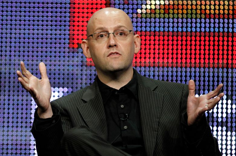 """FILE – In this Aug. 6, 2010 file photo, Brad Meltzer participates in a panel discussion at the A&E Networks Television Critics Association summer press tour in Beverly Hills, Calif.  Meltzer has a 3-book deal with the HarperCollins imprint Morrow, which released his debut novel """"The Tenth Justice"""" in 1997. Morrow announced Thursday , Jan. 31, 2019, that his next book will come out in 2021 and will feature the protagonists Nola Brown and Zig Zigarowski from last year's """"The Escape Artist.""""(AP Photo/Matt Sayles, File)"""