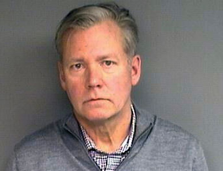 """This booking photograph released Wednesday, Jan. 16, 2019, by the Stamford, Conn., Police Department shows Chris Hansen, former host of the television program """"To Catch a Predator,"""" arrested Monday in his hometown of Stamford, on charges he he wrote bad checks for $13,000 worth of marketing materials. (Stamford Police Department via AP)"""