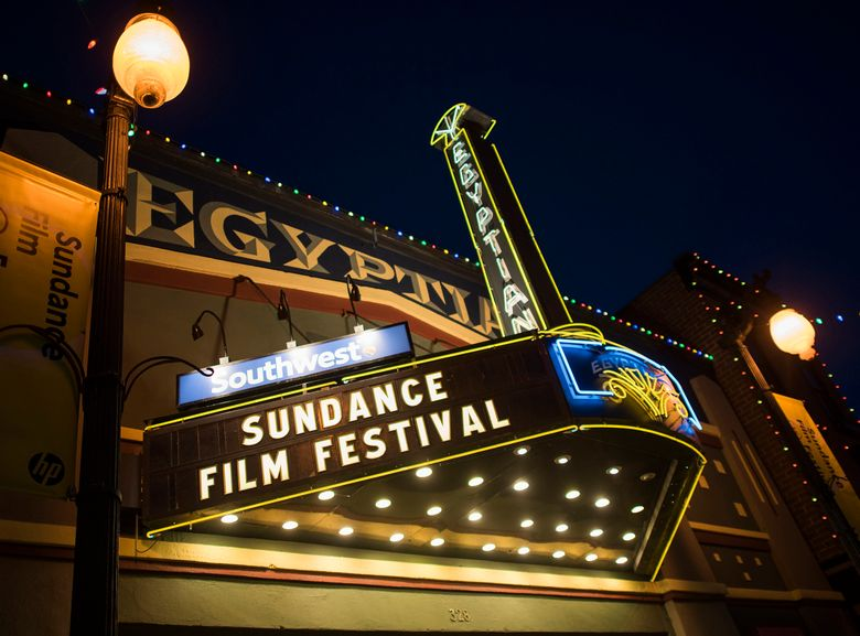 FILE – In this Thursday, Jan. 22, 2015, file photo, the Egyptian Theatre is lit up on Main Street during the first night of the Sundance Film Festival in Park City, Utah. The mountainside festival, which kicks off Thursday, Jan. 24, 2019, in Park City, Utah, has become known for launching nonfiction films to box office successes and awards, and this year is shaping up to be no different. (Photo by Arthur Mola/Invision/AP, File)