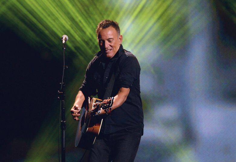 FILE – In this Sept. 30, 2017 file photo, Bruce Springsteen performs during the closing ceremonies of the Invictus Games in Toronto. On Friday, Jan. 11, 2019, Springsteen made an unexpected visit to The Bebop, an Irish pub in Boston where he spent time listing to a local performer. (Nathan Denette/The Canadian Press via AP, File)