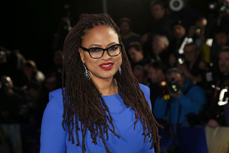 """FILE – In this March 13, 2018 file photo, director Ava DuVernay appears at the premiere of """"A Wrinkle In Time,"""" in London.  Despite widespread attention over gender inequality in film, a new study finds that the number of female directors in the top 250 domestic grossing movies last year dipped to eight percent. That was down three percent from 2017, according to the 21st annual Celluloid Ceiling report released Thursday, Jan. 3, 2019 by the Center for the Women in Television and Film at San Diego State University.  (Photo by Joel C Ryan/Invision/AP, File)"""