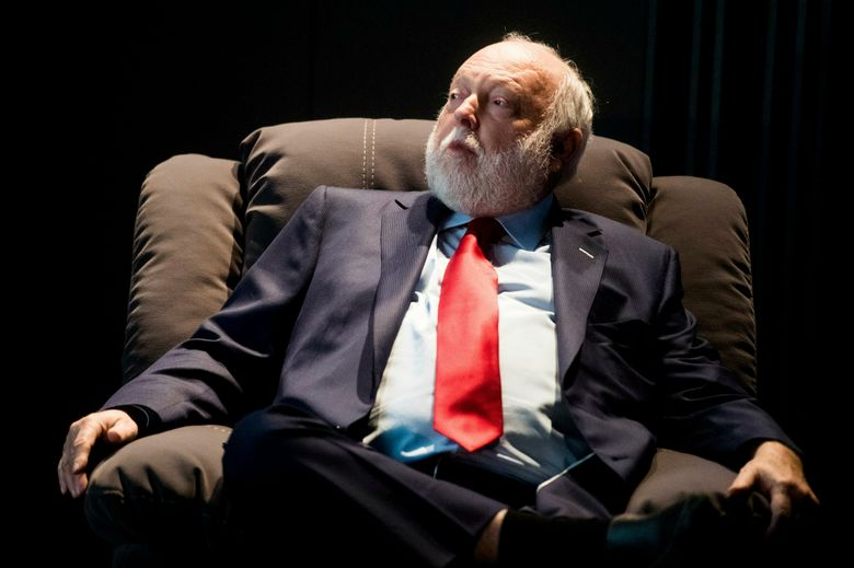 FILE — In this Tuesday, Feb. 7, 2017 photo government commissioner in charge of the development of Hungary's film industry, Andy Vajna, participates in a discussion in the headquarters of the Hungarian National Film Fund in Budapest. On Sunday, Jan. 20, 2019 the Hollywood producer, who was a prominent figure of the Hungarian and international film industry, died at the age of 74 after a long illness in his Budapest home. (Zoltan Balogh/MTI via AP, file)