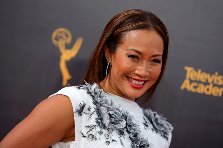 """FILE – In this Sept. 11, 2016, file photo, Carrie Ann Inaba arrives at night two of the Creative Arts Emmy Awards at the Microsoft Theater in Los Angeles. Inaba is no longer a temp on """"The Talk."""" The CBS daytime show announced Wednesday, Jan. 2, 2019, that Inaba has joined the panel of hosts, moving up from recurring guest host. (Photo by Richard Shotwell/Invision/AP, File)"""