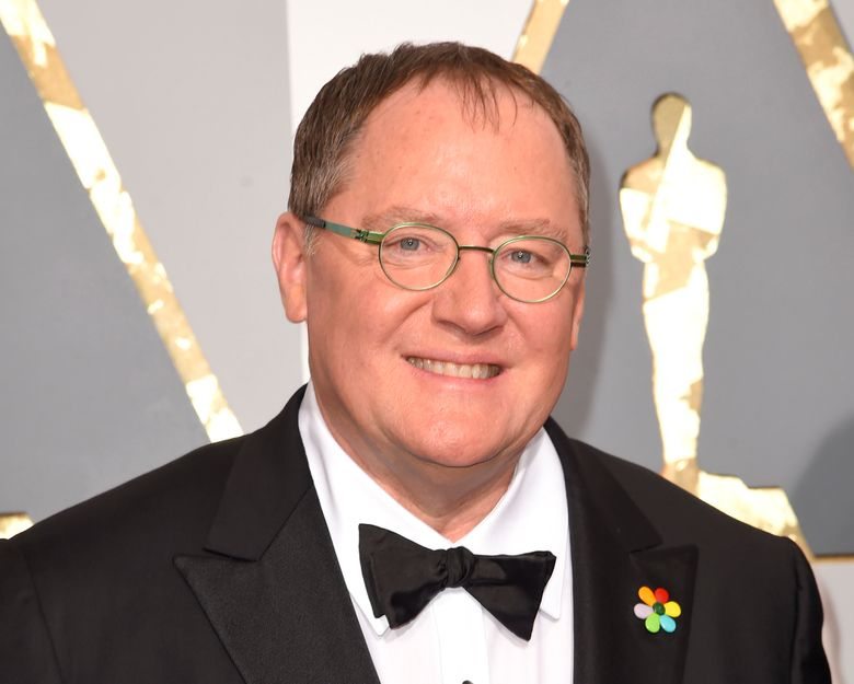 FILE – In this Feb. 28, 2016 file photo, Pixar co-founder and Walt Disney Animation chief John Lasseter arrives at the Oscars in Los Angeles. Lasseter, the ousted Pixar co-founder and former Disney animation chief, will head the recently launched animation division of production company Skydance Media. (Photo by Dan Steinberg/Invision/AP, File)