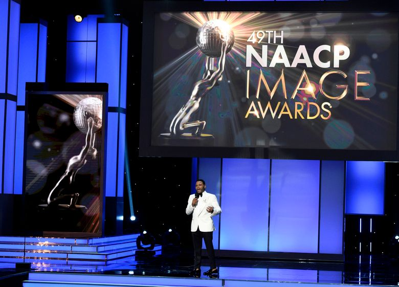 In this Monday, Jan. 15, 2018 file photo, host Anthony Anderson speaks at the 49th annual NAACP Image Awards at the Pasadena Civic Auditorium in Pasadena, Calif. The NAACP Image Awards will be televised live for the first time from the Dolby Theatre. NAACP and TV One officials announced Thursday, Jan. 3, 2019, that the 50th awards ceremony will be televised on the cable network at the venue in Hollywood, Calif., on March 30. (Photo by Chris Pizzello/Invision/AP, File)