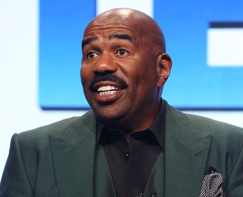 """FILE – In this Aug. 3, 2017, file photo, host/executive producer Steve Harvey participates in the """"Steve"""" panel during the NBC Television Critics Association Summer Press Tour in Beverly Hills, Calif. Steve Harvey will host the NFL Honors show on Feb. 2, 2019, when The Associated Press hands out its individual league awards. The two-hour prime-time show airing on CBS will be held at the Fox Theatre in Atlanta. (Photo by Willy Sanjuan/Invision/AP, File)"""