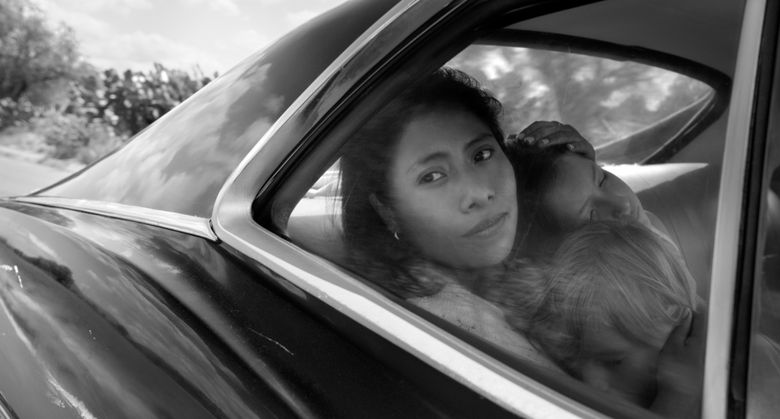 """This image released by Netflix shows Yalitza Aparicio in a scene from the film """"Roma,"""" by filmmaker Alfonso Cuaron. On Tuesday, Jan. 22, 2019, Aparicio was nominated for an Oscar for best actress for her role in the film. The 91st Academy Awards will be held on Feb. 24. (Alfonso Cuarón/Netflix via AP)"""