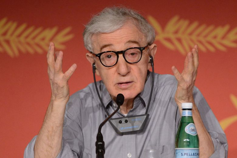 Woody Allen, shown at a press conference at the Cannes Film Festival in France in 2016, is suing Amazon. (Aurore Marechal/Abaca Press/TNS)
