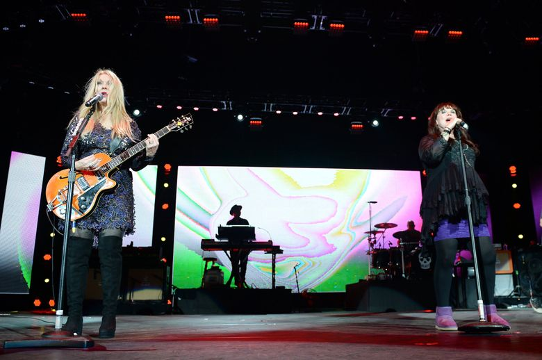 Seattle rock greats Heart, led by Nancy (left) and Ann Wilson, announce their first tour together in three years. (Photo by Jeff Daly/Invision/AP, file)