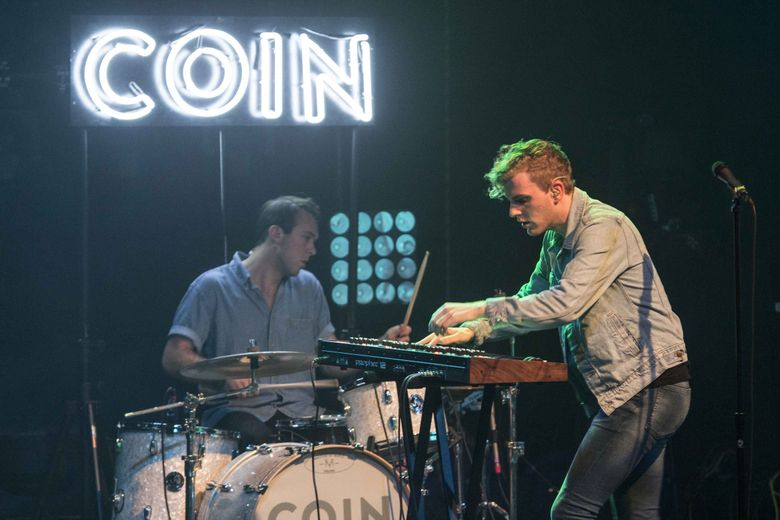 Indie-pop band COIN, which includes Ryan Winnen, left, and Chase Lawrence, will be at the Showbox Saturday, Feb. 23. (Robb D. Cohen / Invision / AP, 2015)
