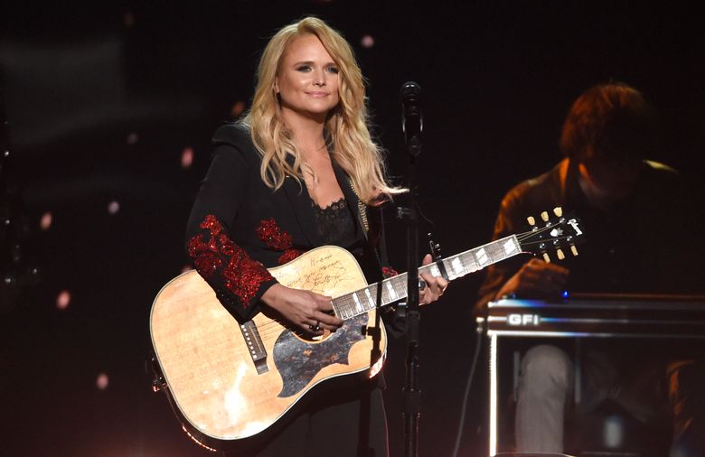 """FILE – In this April 15, 2018 file photo, Miranda Lambert performs """"Keeper of the Flame"""" at the 53rd annual Academy of Country Music Awards at the MGM Grand Garden Arena in Las Vegas. Country star Lambert celebrated Valentine's Day weekend with the announcement that she secretly got married to Brendan Mcloughlin. A rep for the singer confirmed the marriage after Lambert posted photos of her in a white lace gown with her unknown new husband to her Instagram account on Saturday, Feb. 16, 2019. (Photo by Chris Pizzello/Invision/AP, File)"""