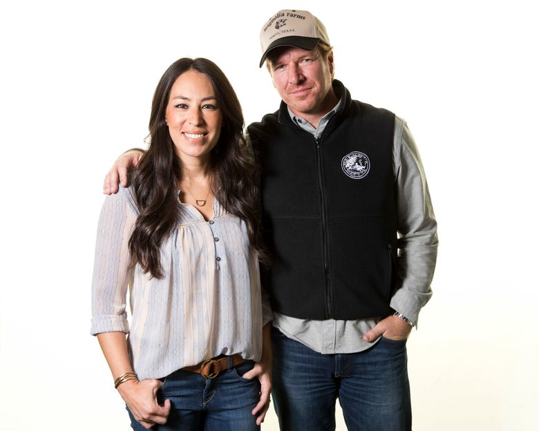 """FILE – In this March 29, 2016, file photo, Joanna and Chip Gaines pose for a portrait in New York to promote their home improvement show, """"Fixer Upper,"""" on HGTV. The Gaines' latest home project is quite the fixer-upper. The Texas couple made famous by HGTV's """"Fixer Upper"""" home improvement show closed last week on the historic but rundown Cottonland Castle in Waco, Texas. (Photo by Brian Ach/Invision/AP, File)"""