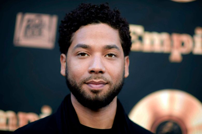 """FILE – In this May 20, 2016 file photo, actor and singer Jussie Smollett attends the """"Empire"""" FYC Event in Los Angeles. Terrence Howard, the actor who plays Jussie Smollett's father on 'Empire,' has expressed support for his fellow cast member on social media. Smollett, who is black and gay, is charged with filing a false police report in January 2019 when he said he was attacked in Chicago by two masked men who used derogatory language and put a rope around his neck. (Richard Shotwell/Invision/AP, File)"""