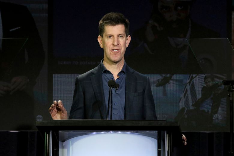 Senior Vice President of Content of Hulu Craig Erwich speaks at the executive session during the Hulu presentation at the Television Critics Association Winter Press Tour at The Langham Huntington on Monday, Feb. 11, 2019, in Pasadena, Calif. (Photo by Willy Sanjuan/Invision/AP)