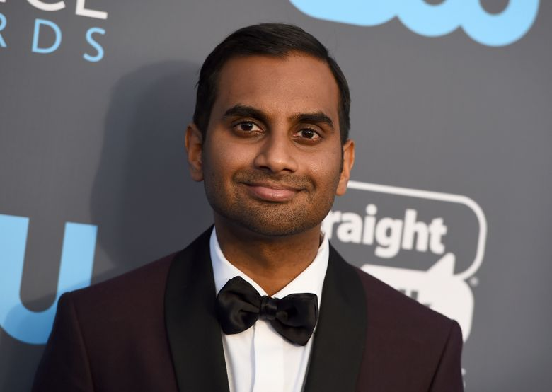 FILE – In this Jan. 11, 2018 file photo, Aziz Ansari arrives at the 23rd annual Critics' Choice Awards at the Barker Hangar in Santa Monica, Calif.  Ansari said at a standup show in New York that a sexual misconduct allegation was humiliating, but he hopes he's become better since. It was the comedian and actor's first public discussion of the issue since a written statement in the immediate aftermath of a story in January 2018 on the website Babe.net in which an unidentified accuser wrote that Ansari acted improperly on a date. (Photo by Jordan Strauss/Invision/AP, File)