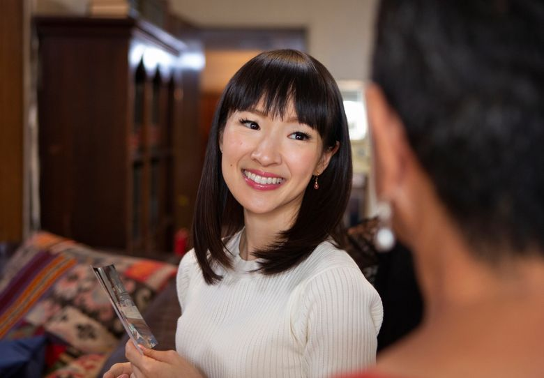 """This image released by Netflix shows Marie Kondo in a scene from her series """"Tidying Up with Marie Kondo."""" A takedown of  Condo by author-journalist Barbara Ehrenreich has been widely condemned as racist and xenophobic. Ehrenreich tweeted Monday, Feb. 4, that she saw Condo's popularity as a sign of America's decline and wished that the Japanese """"de-cluttering guru"""" would """"learn to speak English."""" She later tweeted that she was """"sorry"""" if she had offended anyone and called her previous comment a missed attempt at """"subtle humor."""" (Denise Crew/Netflix via AP)"""