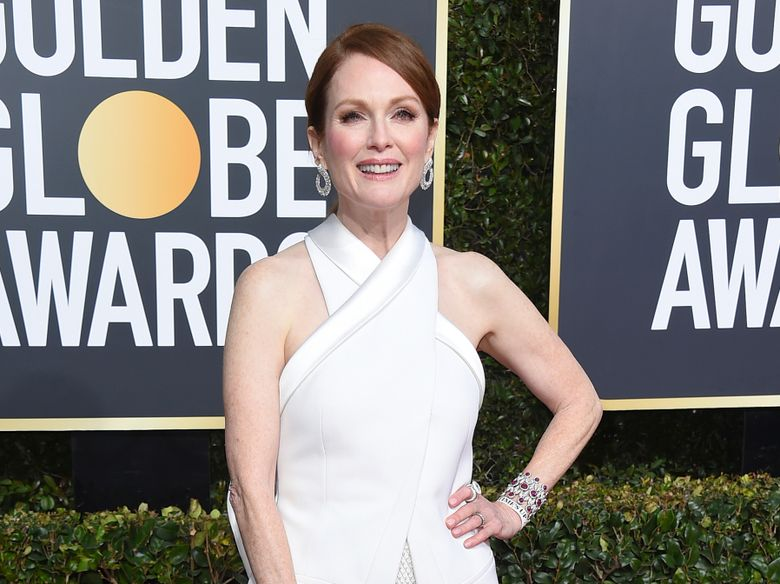 FILE – In this Jan. 6, 2019 file photo, Julianne Moore arrives at the 76th annual Golden Globe Awards in Beverly Hills, Calif. Moore has helped New York Gov. Andrew Cuomo's administration unveil the governor's series of initiatives aimed at improving the lives of women in New York. Cuomo's list of proposals for 2019 includes eliminating the statute of limitations for rape claims and increasing protections against sexual harassment in the workplace. (Photo by Jordan Strauss/Invision/AP, File)