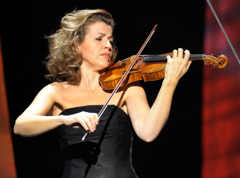 FILE – In this Thursday, Dec. 18, 2008 file photo, German violinist Anne-Sophie Mutter performs during the Jose Carreras Gala rehearsal in Leipzig, eastern Germany. American rapper and DJ Grandmaster Flash, German violinist Anne-Sophie Mutter and international music charity Playing for Change Foundation on Wednesday Feb. 13, 2019, won Sweden's Polar Music Prizes for 2019. (AP Photo/Eckehard Schulz, file)