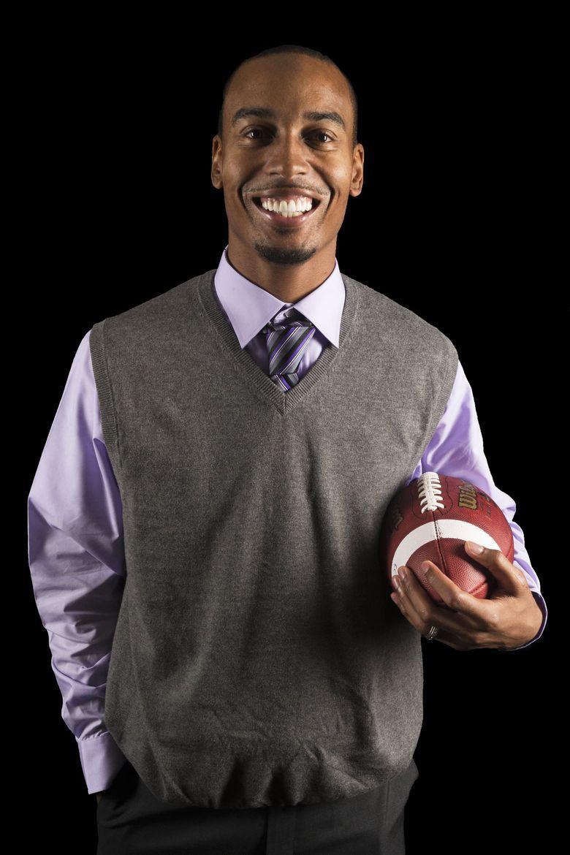 Joey Thomas, Coach, Garfield HS  (Logan Riely / The Seattle Times)