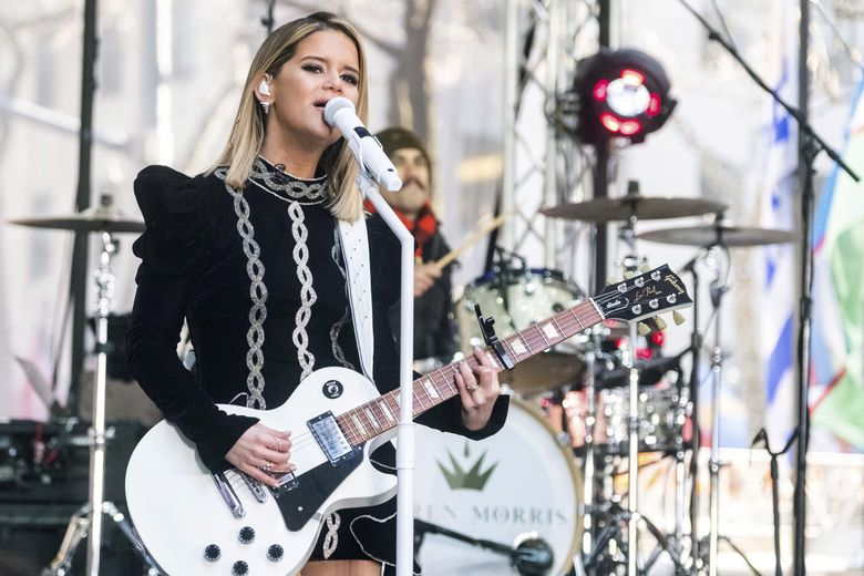 """Maren Morris, performing on NBC's """"Today"""" show at Rockefeller Plaza in New York, will be coming to Showbox SoDo on March 22 and 23. (Charles Sykes / Invision / AP)"""
