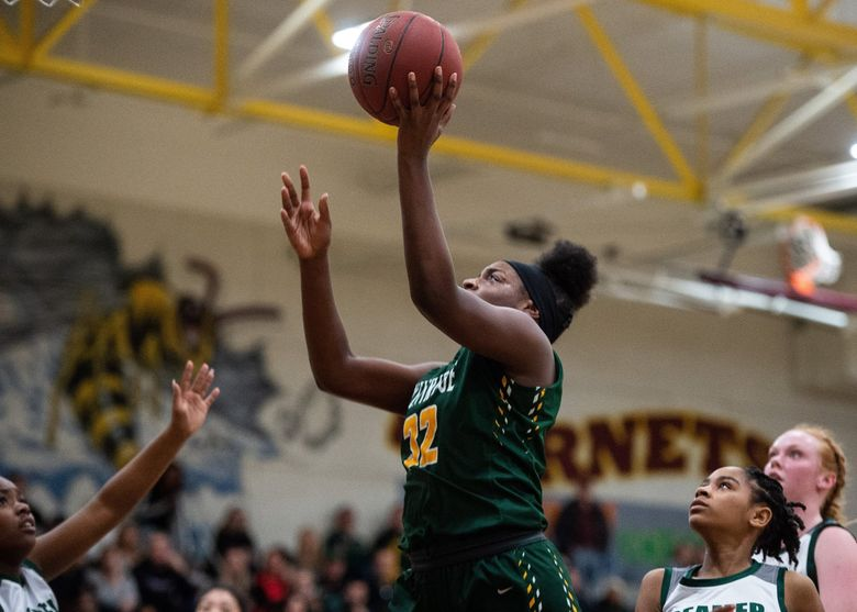 Kentridge's Jordyn Jenkins led the Chargers to a third-place finish at the Class 4A state tournament.  (Joshua Bessex /The News Tribune)