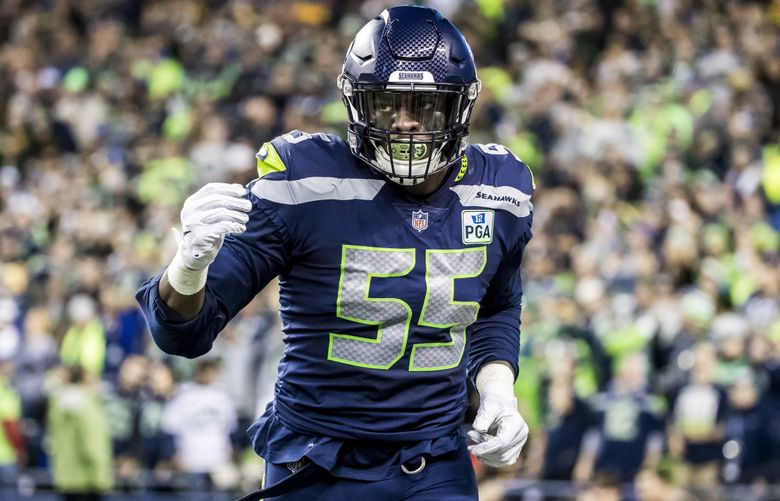 Seahawks defensive end Frank Clark. (Bettina Hansen / The Seattle Times)