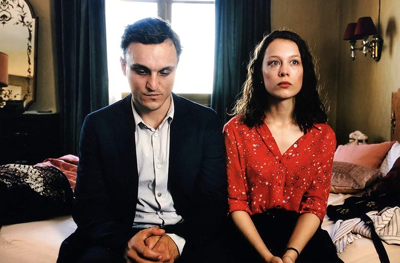 """A refugee (Franz Rogowski) falls for a widow (Paula Beer) who doesn't know she's a widow in """"Transit."""" (Courtesy of Music Box Films)"""