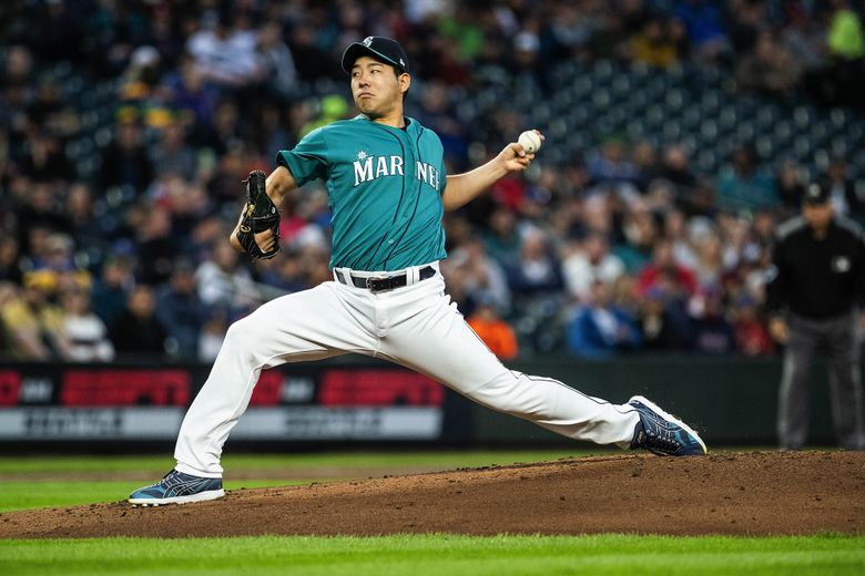 Seattle Mariners pitcher Yusei Kikuchi works against the Boston Red Sox at T-Mobile Park in Seattle on Friday, March 29, 2019.