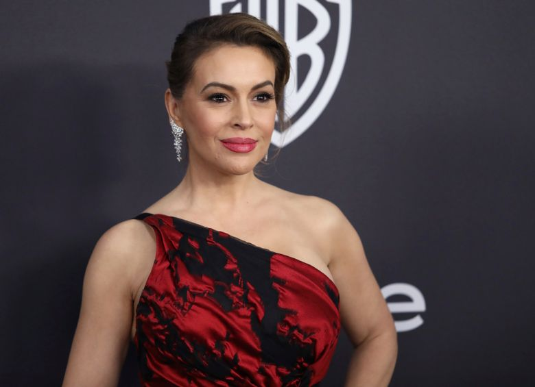 """FILE – In this Jan. 6, 2019 file photo, Alyssa Milano arrives at the InStyle and Warner Bros. Golden Globes afterparty at the Beverly Hilton Hotel in Beverly Hills, Calif.  More than 40 Hollywood celebrities have signed a letter sent to Georgia Gov. Brian Kemp and House Speaker David Ralston saying they will urge TV and film production companies to abandon the state if a """"heartbeat"""" abortion bill becomes law.  The bill prohibits most abortions after six weeks from conception and could come to a House vote as early as Thursday, March 28. If approved, it will go to Kemp, who's expected to sign it.  (Photo by Matt Sayles/Invision/AP, File)"""