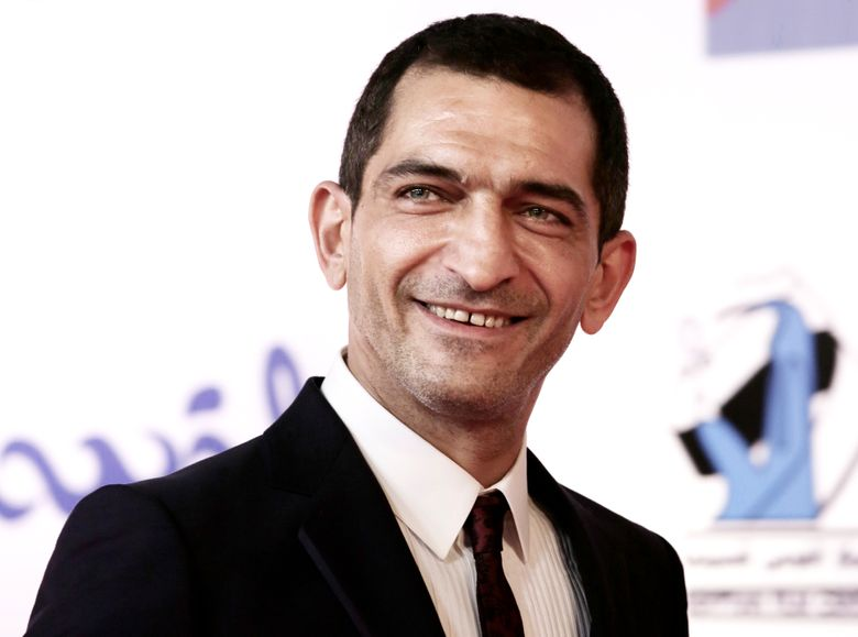 """FILE – In this Sept. 22, 2017 file photo, Egyptian actor Amr Waked arrives on the red carpet during the first International El Gouna Film Festival, in el-Gouna, Egypt. Waked, an Egyptian actor known for his criticism of President Abdel-Fattah el-Sissi's government, said Thursday, March 7, 2019, that a military court has sentenced him in absentia to eight years in prison in two separate cases. Waked, a 45-year-old actor living in Spain said his lawyer told him he was convicted of """"disseminating false news and insulting state institutions."""" (AP Photo/Nariman El-Mofty, File)"""