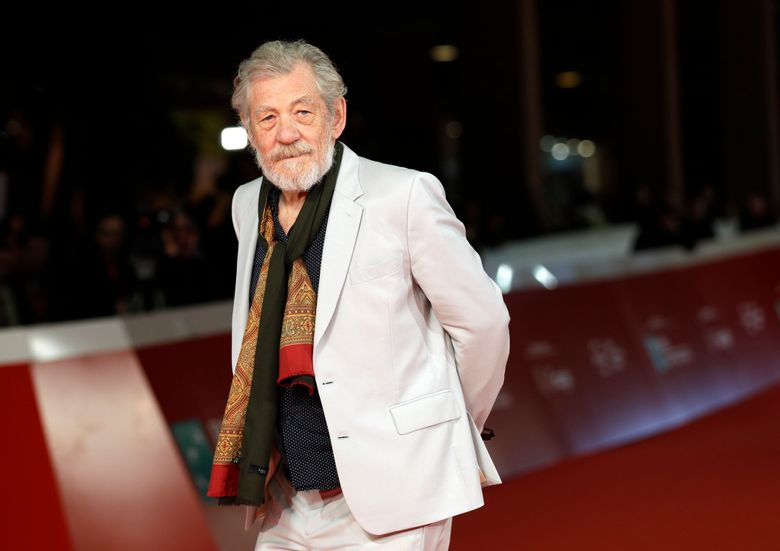FILE – In this Nov. 1, 2017 file photo, actor Ian McKellen poses on the red carpet at the 12th edition of the Rome Film Festival. McKellen apologized on Saturday, March 2, 2019, for remarks in which he appeared to suggest that allegations of sexual abuse that have been leveled against Kevin Spacey and Bryan Singer resulted from the entertainers' unease with their own sexuality. (AP Photo/Andrew Medichini, File)