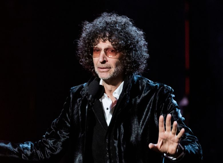 """FILE – In this April 14, 2018 file photo, Howard Stern speaks at the 2018 Rock and Roll Hall of Fame Induction Ceremony in Cleveland. The shock jock's """"Howard Stern Comes Again"""" will be published May 14, Simon & Schuster announced Tuesday. It's his first book in more than 20 years, and was No. 1 on Amazon.com within hours of its announcement. Stern's previous books, """"Private Parts"""" and """"Miss America,"""" both spent months on The New York Times' bestseller list. (Photo by Michael Zorn/Invision/AP, File)"""