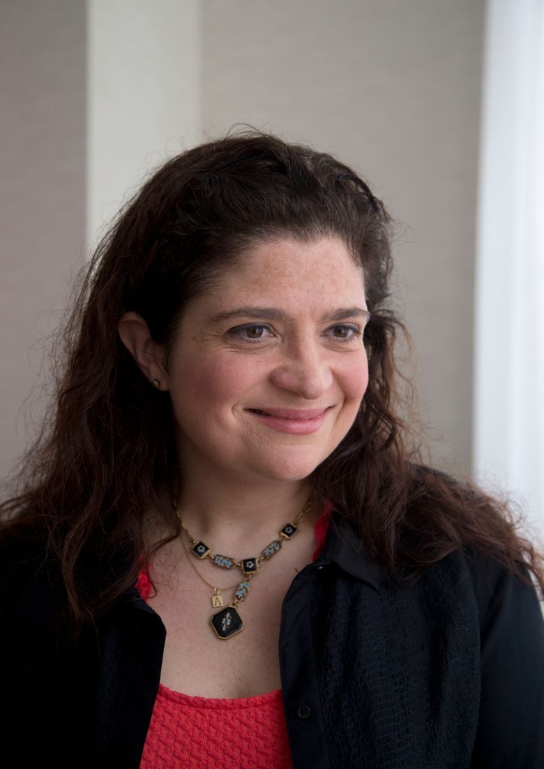 FILE – In this Feb. 21, 2014 file photo, Food Network chef Alex Guarnaschelli is interviewed in Miami Beach, Fla.  Guarnaschelli might be a revered judge on TV's Chopped, one of the few female iron chefs and the author of two cookbooks, but in her 11-year-old daughter's eyes Chef Gordon Ramsay is the ultimate authority on food.  (AP Photo/Wilfredo Lee, File)