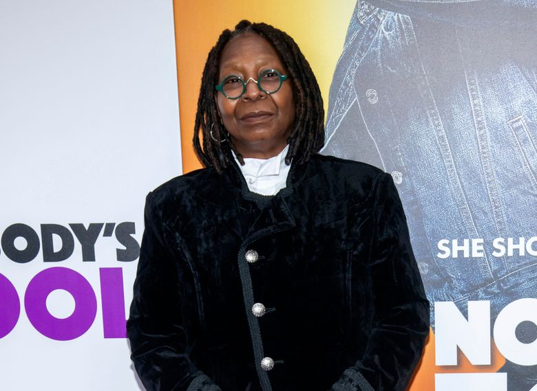"""FILE – In this Oct. 28, 2018 file photo, Whoopi Goldberg attends the world premiere of """"Nobody's Fool"""" in New York. Goldberg received a standing ovation from the audience and hugs from her castmates as she returned to """"The View."""" She surprised everyone as she appeared on the ABC program Thursday, less than a week after she said in a video that she nearly died of pneumonia. (Photo by Charles Sykes/Invision/AP, File)"""