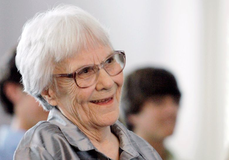 """FILE – In this Aug. 20, 2007, file photo, """"To Kill A Mockingbird"""" author Harper Lee smiles during a ceremony honoring the four new members of the Alabama Academy of Honor, at the state Capitol in Montgomery, Ala. Lee railed against her Alabama hometown for trying to exploit her success in a letter that helps explain later legal battles involving commercialization of her novel. The writer's bitter assessment of Monroeville comes in a three-page letter that's being sold with other items by Bonhams auctions.  (AP Photo/Rob Carr, File)"""