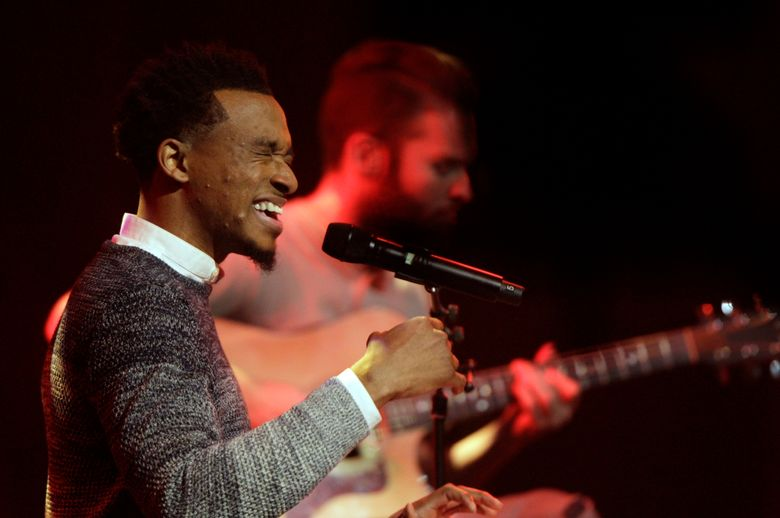 """FILE – In this Oct. 11, 2016 file photo, Jonathan McReynolds performs at the 47th Annual GMA Dove Awards at Lipscomb University in Nashville, Tenn. McReynolds was the top winner at the Stellar Gospel Music Awards, taking home six trophies during a ceremony that also included a posthumous tribute to the Queen of Soul, Aretha Franklin. Thanks to his album """"Make Room,"""" Chicago gospel artist McReynolds was crowned artist of the year Friday, March 29, 2019 and his song """"Not Lucky"""" was named song of the year. He also took home honors for contemporary male vocalist, contemporary CD and producer of the year.(Photo by Wade Payne/Invision/AP, File)"""