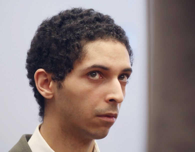 """FILE – In this May 22, 2018, file photo, Tyler Barriss, of California, appears for a preliminary hearing in Wichita, Kan. Barriss, who pleaded guilty to 51 charges related to fake emergency calls and threats will be sentenced in federal court in Wichita, Friday, March 29, 2019, and could face decades in prison. His case drew national attention to the practice of """"swatting,"""" a form of retaliation in which gamers get police to go to an online opponent's address. One hoax emergency call by Barris led police to fatally shoot a Kansas man. (Bo Rader/The Wichita Eagle via AP, File)"""