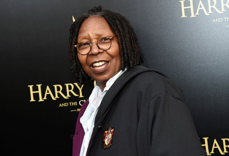 """FILE- In this April 22, 2018 file photo, actress Whoopi Goldberg attends the """"Harry Potter and the Cursed Child"""" Broadway opening at the Lyric Theatre in New York. Goldberg says she nearly died of pneumonia. Appearing Friday, March 8, 2019, in a video on ABC's """"The View,"""" Goldberg told the audience she had pneumonia in both lungs and it was """"septic."""" Goldberg says """"I came very, very close to, ah, leaving the Earth.""""  (Photo by Evan Agostini/Invision/AP, File)"""
