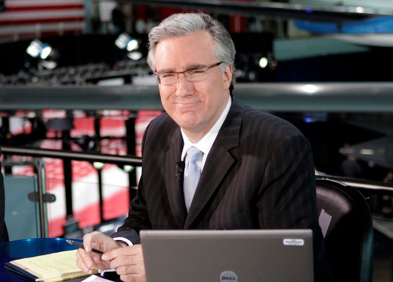 FILE – In this May 3, 2007 file photo, Keith Olbermann poses at the Ronald Regan library in Simi Valley, Calif. Olbermann has apologized for insulting and threatening a Mississippi turkey hunter who killed a rare white turkey. (AP Photo/Mark J. Terrill, file)
