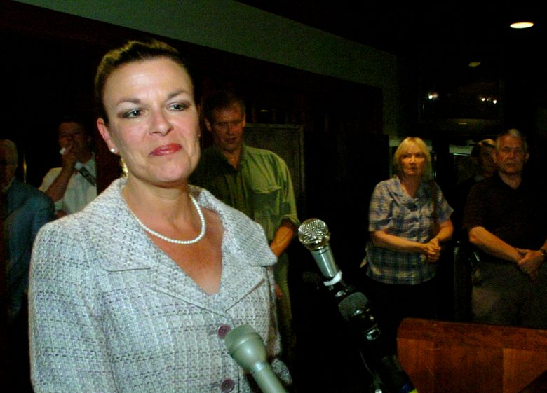 FILE – In this May 2, 2006, file photo, attorney Freda Black announces she will wait for all her results for Durham County District Attorney to be tallied during a gathering at the University Towers in Durham, N.C. An autopsy released Monday, March 18, 2019 by the state medical examiner says natural causes claimed the life of  Black, a North Carolina prosecutor found dead at home in July 2018.  (AP Photo/Sara D. Davis, File)