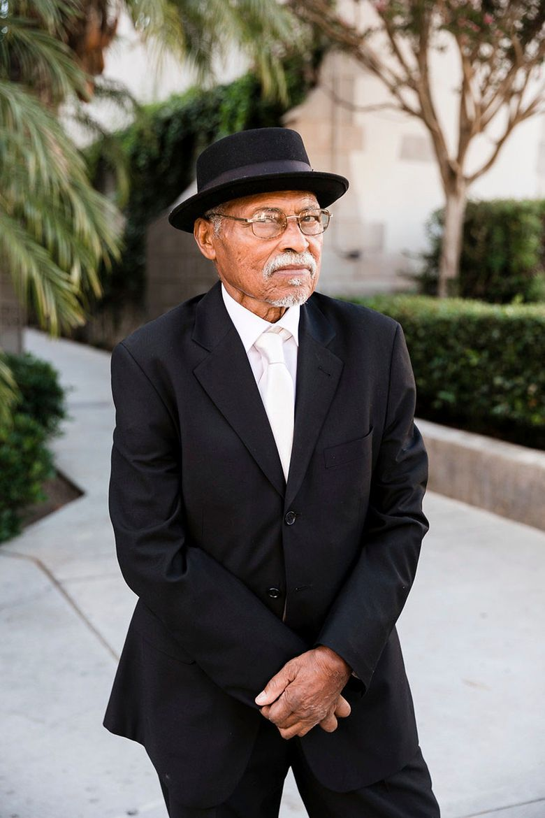 """This image provided by one of his sons via Sarah Mack Photo shows actor Nathaniel Taylor, who played the role of Rollo Dawson in the hit 1970s sitcom """"Sanford and Son."""" Taylor died Wednesday, Feb. 27, 2019, in Los Angeles, at the age of 80. (Sarah Mack Photo via AP)"""