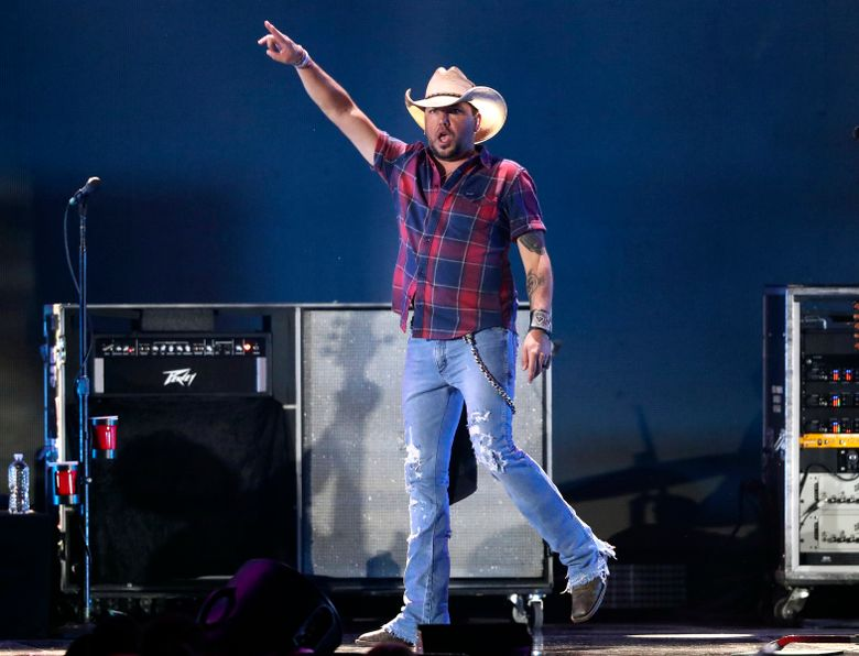 FILE – In this Sept. 21, 2018 file photo, Jason Aldean performs at the 2018 iHeartRadio Music Festival in Las Vegas. Reigning entertainer of the year Aldean will receive the artist of the decade award at this year's Academy of Country Music Awards in April 2019. The ACM announced Wednesday, March 6, 2019, that Aldean will join only five other honorees that have received the award since 1969, including Marty Robbins, Loretta Lynn, Alabama, Garth Brooks and George Strait.  (Photo by John Salangsang/Invision/AP, File)