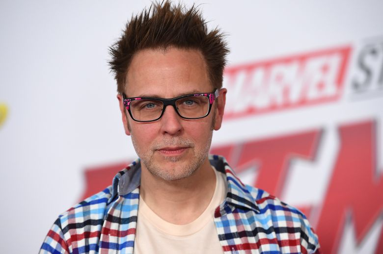 """FILE – This June 25, 2018 file photo shows James Gunn at the premiere of """"Ant-Man and the Wasp"""" in Los Angeles. Months after being fired over old tweets, James Gunn has been rehired as director of """"Guardians of the Galaxy Vol. 3."""" Representatives for the Walt Disney Co. and for Gunn on Friday confirmed that Gunn has been reinstated as writer-director of the franchise he has guided from the start. (Photo by Jordan Strauss/Invision/AP, File)"""